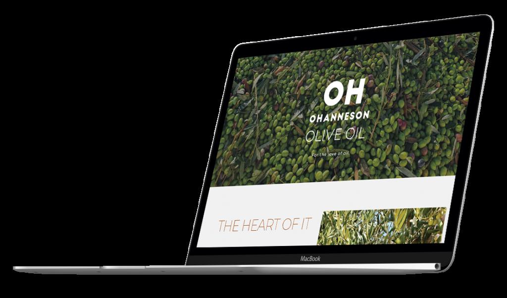Web Oh Olive Oil Website On MacBook