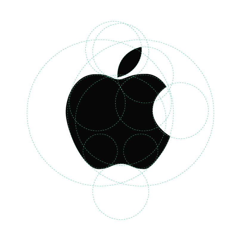 Apple Logo With Golden Ratio Guides
