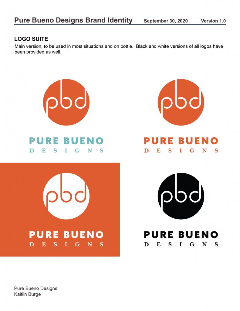 Pure Bueno Designs Stylebook Page 1