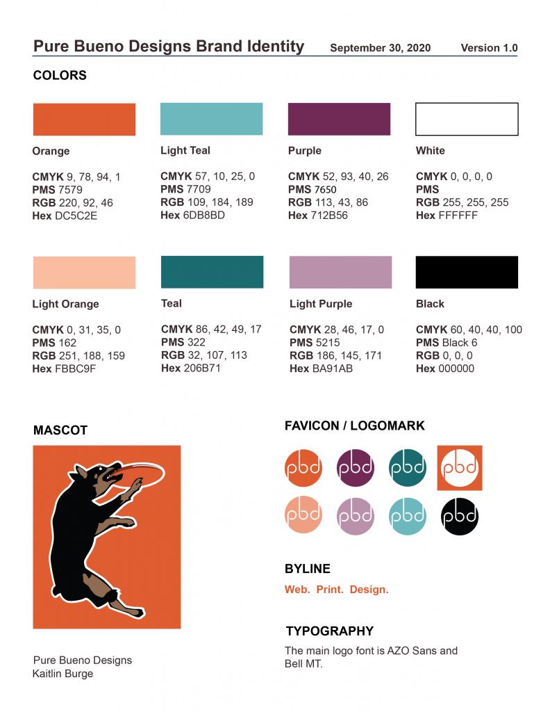 Pure Bueno Designs Stylebook Page 4