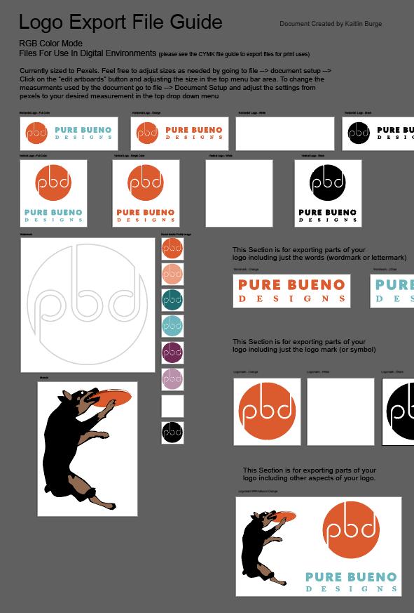 Pure Bueno Designs Export Guide