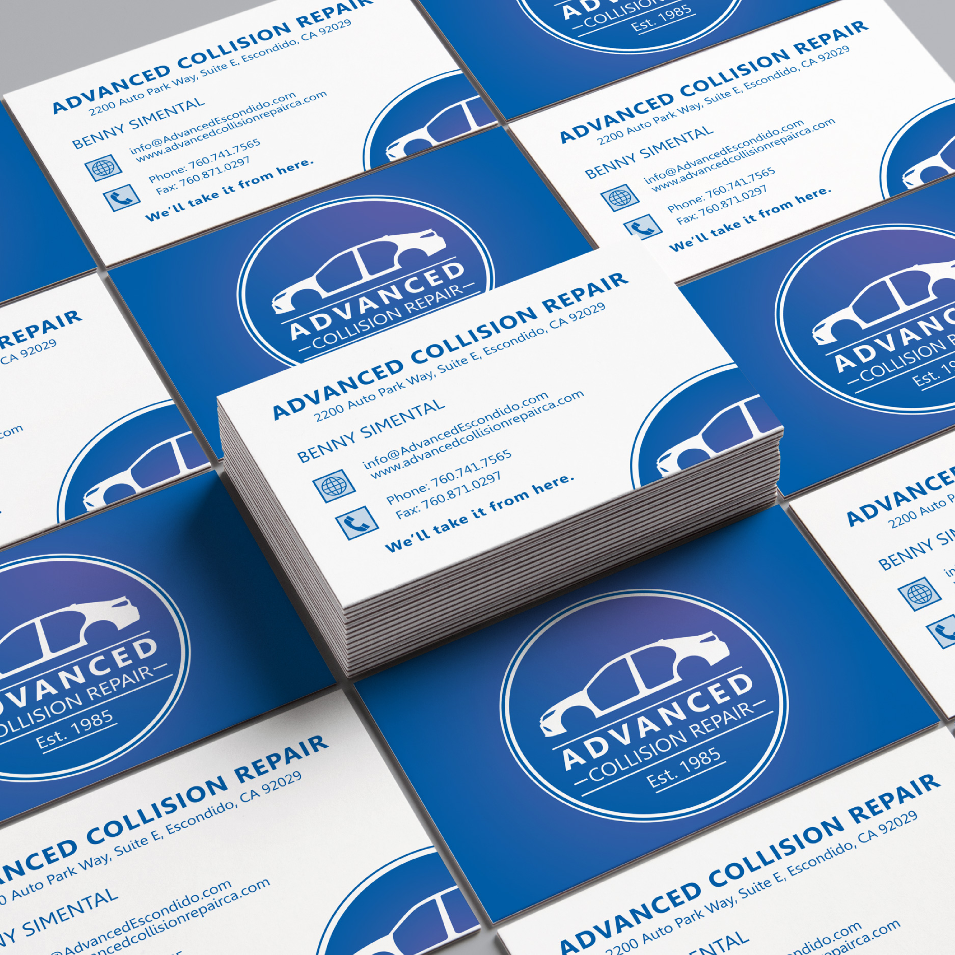 Advanced Collision Repair Business Cards