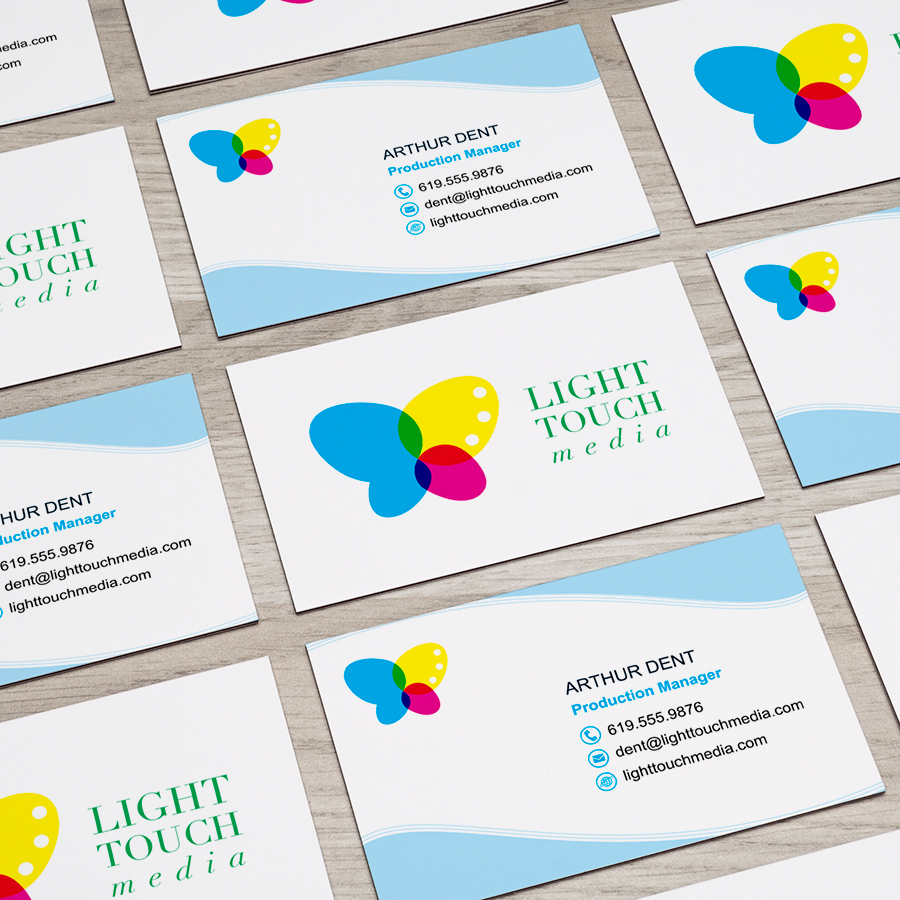 Light Touch Media Business Cards